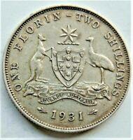 1931 AUSTRALIA George V, Variety Florin,Grading Good VERY FINE.#2