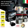 9006 HB4 8 Lati 110W 30000LM 360° Auto Canbus LED Fari Lampade Kit Bianco 6000K