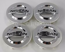 4x Nissan 350z Altima Maxima Sentra Murano Quest Versa Silver 54 mm Center Caps