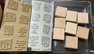 Stampin' Up! 2002 - QUICK & CUTE - Rubber Stamps Set of 8 - NEW (unmounted)