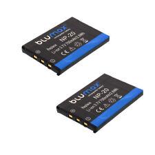 2x Blumax ® batería para Casio np-20 Exilim ex-z75 ex-z60 ex-z70 s600 s770 s880 s1
