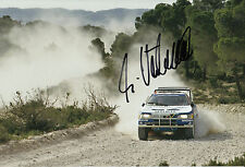 Ari Vatanen mano firmado 12x8 Foto Peugeot 405 Paris Alger Dakar 1988 1.