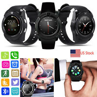 Bluetooth Smart Watch Wristwatch Phone for Android Samsung S9 S8 S7 Note 8 LG G6