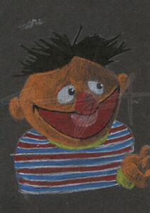 ORIGINAL WarrenS Art Card ATC ACEO Sesame Street Muppets Ernie Sketch Artwork