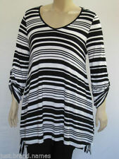 Autograph 3/4 Sleeve Striped Plus Size Tops & Blouses for Women