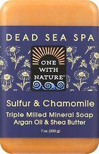 Azufre & Manzanilla Dead Sea Spa Bar Jabón por uno con la naturaleza, 7 OZ 1 Bar