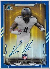 2015 Bowman Chrome Blue Refractor Kevin White On Card Auto Rc # /99