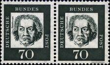 BRD (BR.Deutschland) 358ya wP waagerechtes Paar postfrisch 1961 Bedeutende Deuts