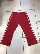Zoey & Beth Plus Athletic Pants Red w/ White Stripe Elastic Waist Plus Size 3X