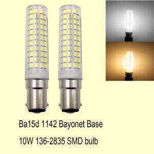 Ba15d Bayonet Base Led Bulb 136LEDs SMD Lamp 10W=100W 110V/220V Ceramics Light