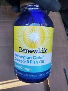 Renew Life Norwegian Gold Omega 3 Fish Oil 120 softgels