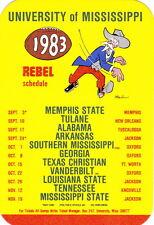 1983 University Of Mississippi Ole Miss Rebels Football Pocket Schedule
