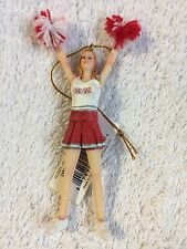 Ohio State Buckeyes Cheerleader Ornament NCAA Football Basketball Sports College