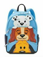 NEW Disney Parks Loungefly Dogs Pluto Lady 101 Dalmatian's Mini Backpack NWT