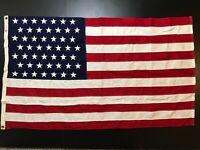 WWII 49 Star US Flag War Hero 353rd Infantry Named John I. Binns War WW2 Relic