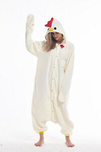 Chicken Adult Animal Cosplay Pajama Halloween Costume Kigurumi Onesie0 Sleepwear
