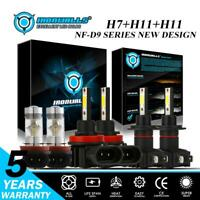 H7+H11+H11 H8 Combo LED Headlight Bulbs High Low Fog for Ford Fusion 2006-2018