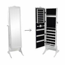 Sortwise® Mirrored Jewelry Cabinet Armoire Mirror Organizer Storage Box +Stand