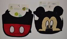 Disney Mickey Minnie Bib & Matching Mickey Mouse Hat with Ears Set One Size