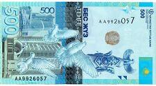 KAZAKHSTAN 500 Tenge 2017 P NEW First Prefix AA UNC Banknote