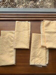 Set Of 4  Gingham Cloth Napkins, 21x21 Yellow Farmhouse Country
