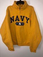 Jansport Sweater Fighting Irish University of Notre Dame SZ S Yellow 1/4 Zip
