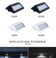 8/12 LED Solar Powered PIR Motion Sensor Wall Security Light Garden Outdoor Lamp