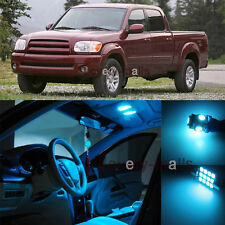 14pc Deluxe Ice Blue Light Interior LED Package Kit For Toyota Tundra 2005-2006