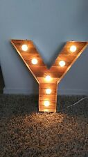 Handmade Marquee Light Letter Y