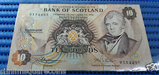 1981 Bank of Scotland Ten (10) Pounds V114491 Circulated Banknote Currency