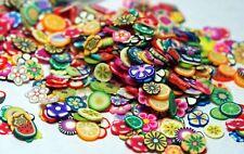 FRUIT FLOWERS FIMO SLICES 3D Nail Art Nail Charms Slime Charms 1/4 Oz Jar Gift