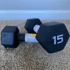 CAP Hex Neoprene 15 LB Pound Pair of Dumbbell Weights (30 LBS Total Weight)