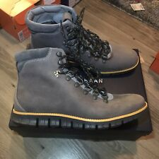 COLE HAAN ZEROGRAND WATER RESISTANT HIKER BOOTS NEW SIZE 8M $300 C28735 Gray