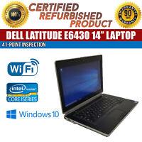 """C Grade Dell Latitude E6430 14"""" Intel i5 4 GB RAM 250 GB HDD Win 10 WiFi Laptop"""