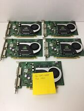 Lot of 5 DP/N 0WX397 NVIDIA QUADRO FX570 256MB PCI-E Dual DVI Tested Working