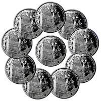 Lot of 10 2017 Britain 1 oz. Silver Landmark Big Ben £2 Mint Cap SKU47519