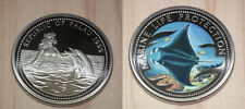 1999 Palau Large Color  $1 Giant Manta Ray/Dolphin/Bare-breasted Mermaid