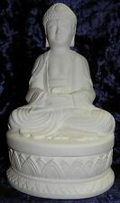 Ready to Paint Ceramic Bisque- Small Buddha Sitting on Box