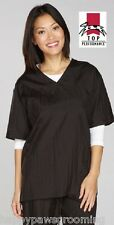 GROOMER Barber Stylist Hair Water Resistant V-Neck SMOCK Grooming Shirt Top*1XL