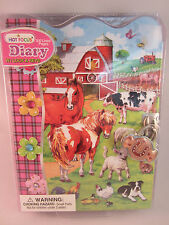 Hot Focus Girl's or Tween 300 page Diary w/ Lock & Keys Farm Animal Barnyard