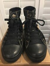 Levi's Men's Hi-Top Sneakers Black Denim Size 10