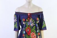 ABOVE KNEE EMBROIDERED MEXICAN PEASANT HIPPIE  BOHO TOP S M L XL XXL