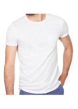 T-shirt homme 100% coton manches courte couleur blanc