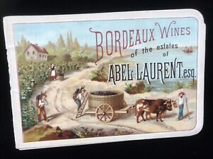 Bordeaux Wines Victorian Trade Card Booklet Abel Laurent