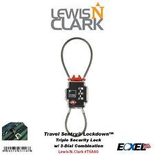 Lewis N. Clark Travel Sentry Lockdown Triple Security TSA Cable Lock #TSA80