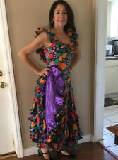 Ballroom Flamenco Tango Salsa Paso Latin Dance Dress Costume Spanish Gown XS-M