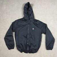 Brandy Melville Black light weight zip up USA windbreaker jacket Made In Italy