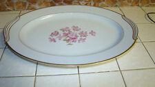 "Noritake 5235 Pink Dogwood  16 1/4 "" Oval Platter  Made in Japan"