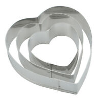 Heart Cut Outs/Heart Cookie Cutters,Set of 3 BN