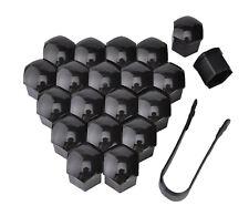 20x Copribulloni 17mm copri bullone plastica NERO bulloni tappo ruote auto black